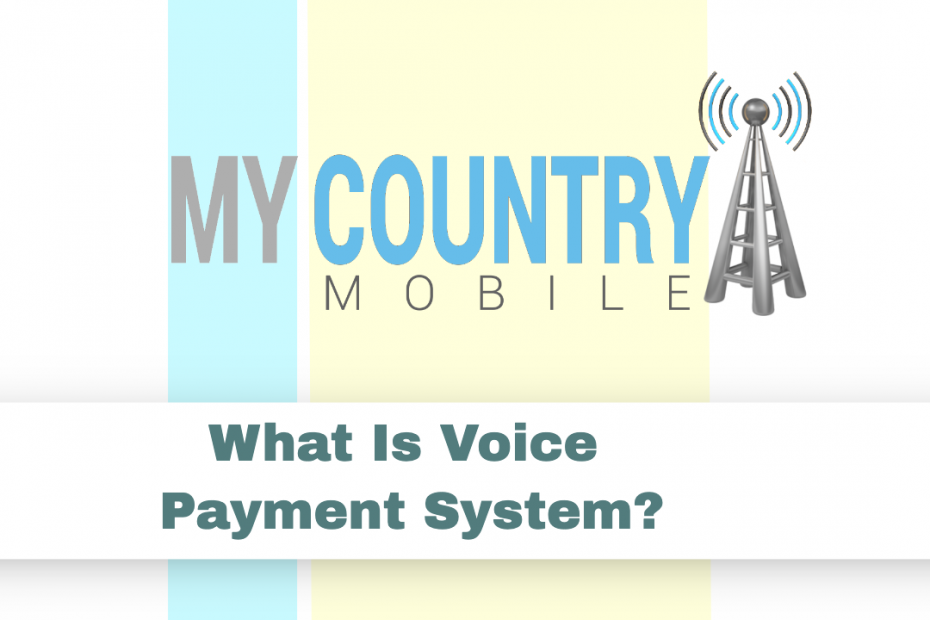 What Is Voice Payment System? - My Country Mobile