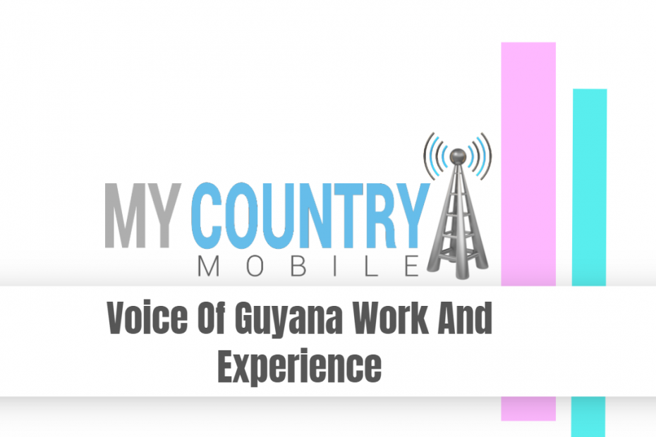 Voice Of Guyana Work And Experience - My Country Mobile